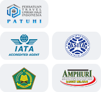 logo patuhi, logo iata, logo asita AET Travel